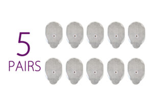 5 Pairs of large pads for pulse massager